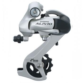 Shimano Alivio RD-M410, 7/8 ск, серебристый