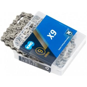 Цепь KMC X9 grey для 9 скоростей