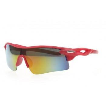 Oulaiou UV400 красные с цветным стеклом