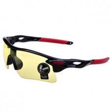 Oulaiou UV400 черно-красные с желтым стеклом
