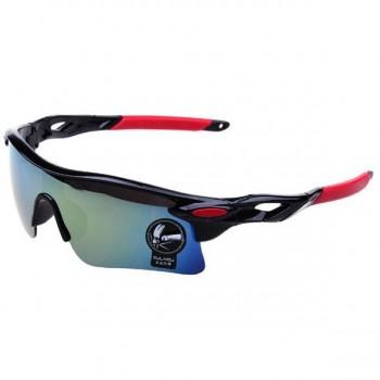 Oulaiou UV400 черно-красные с синим стеклом