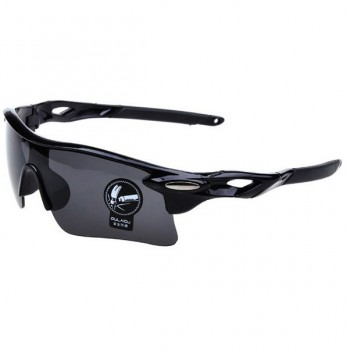 Oulaiou UV400 черные с черным стеклом