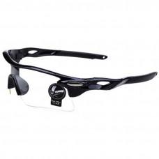 Oulaiou UV400 черные с белым стеклом