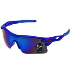 Oulaiou UV400 синие с синим стеклом