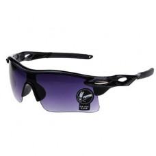 Oulaiou UV400 черные с фиолетовым стеклом