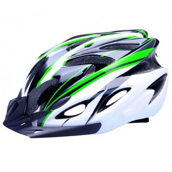 ВелоШлем Ciclismo green white +в подарок очки