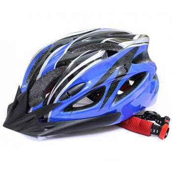 ВелоШлем Ciclismo blue +в подарок очки