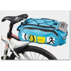 Велосумка Mountainpeak 13l для багажника blue с чехлом от дождя