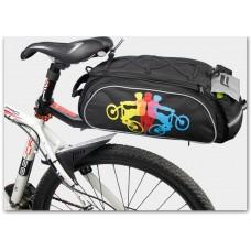 Велосумка Mountainpeak 13l для багажника black с чехлом от дождя