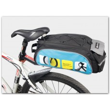 Велосумка Mountainpeak 13l для багажника blue-black с чехлом от дождя
