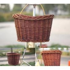 Велосипедная плетенная корзина