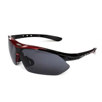 Велоочки UV400 красные с черным стеклом