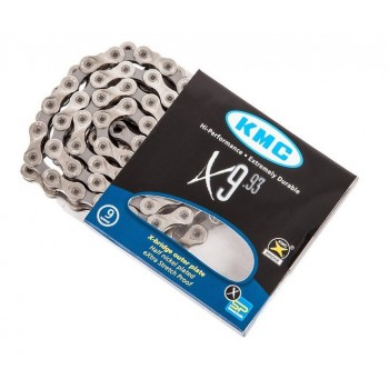 Цепь для мтб KMC X9.93, 9 скоростей, замок в комплекте