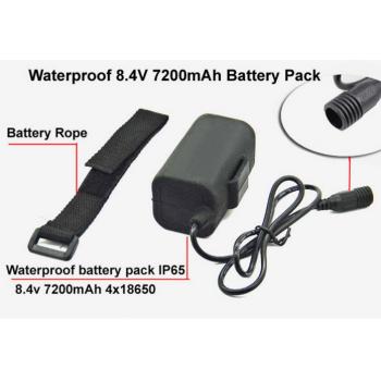 Аккумулятор дополнительный для велофары 8.4 В, 7200 мАч
