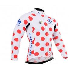 Tour de France carefour джерси теплая на флисе