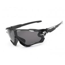 Велосипедные очки Ciclismo черные с черным стеклом