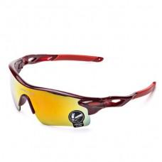 Велосипедные очки Hang Mang темно красные