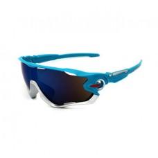 Велосипедные очки Ciclismo синие с синим стеклом