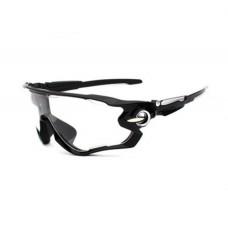 Велосипедные очки Ciclismo черные с прозрачным стеклом