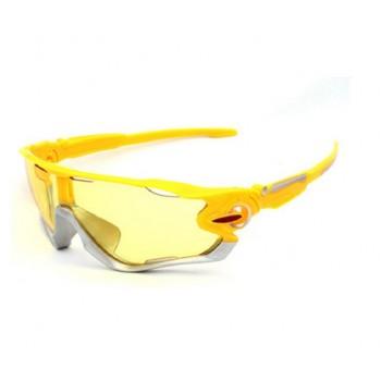 Велосипедные очки Ciclismo желтые желтым стеклом