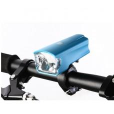 Велофонарь Leadbike синий с зарядкой от USB