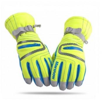 Перчатки зимние marsnow fluorescent green