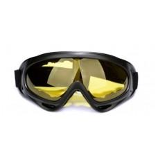 Маска для велосипеда и зимних видов спорта yellow
