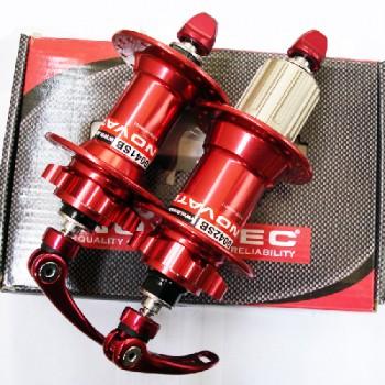 Novatec D041SB/D042SB red комплект втулок,передняя задняя