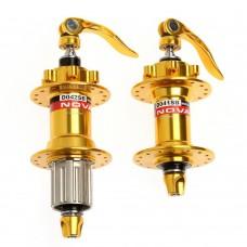 Novatec D041SB/D042SB gold комплект втулок,передняя-задняя