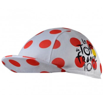 Кепка велосипедная Tour de France white and red dots