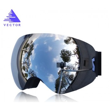 Маска горнолыжная Vector silver
