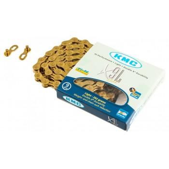 KMC XPL Gold 9 скоростная золотая цепь